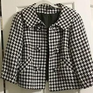 Black and white short jacket